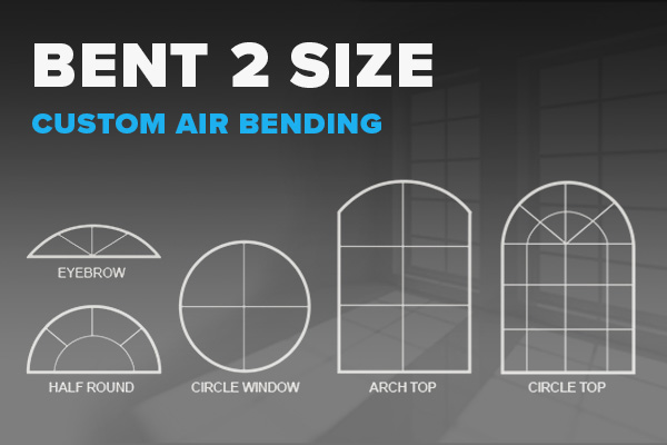 Vinyl bending options for windows